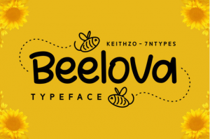 free bumble bee font