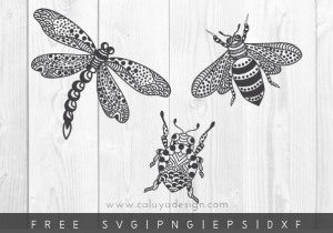 free bee dragonfly svg