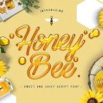 free honey bee font