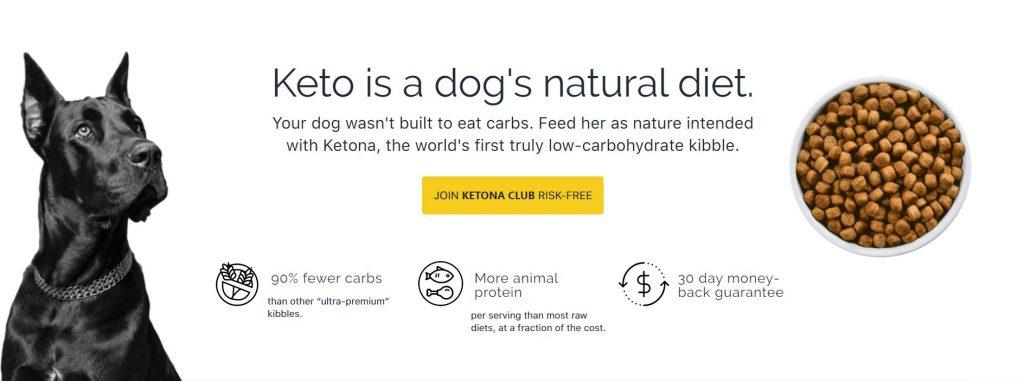 Ketogenic dog food delivery
