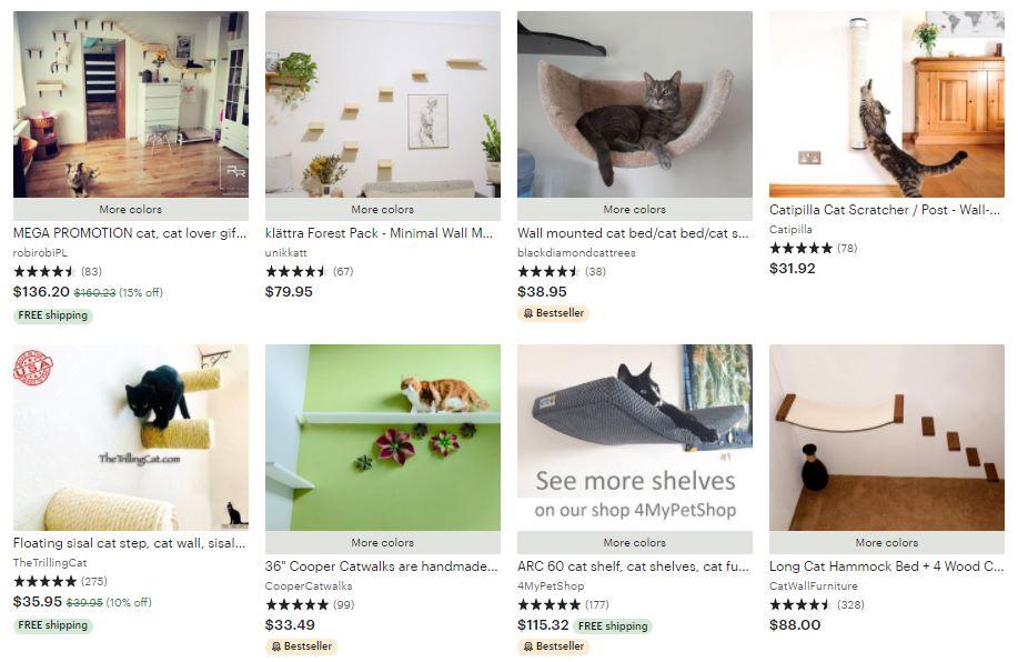best cat wall shelves