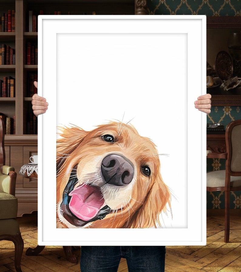 best custom dog art